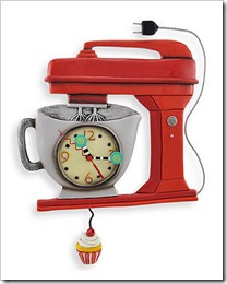 Allen-Designs-Red-Vintage-Kitchen-Mixer-Wall-Clock