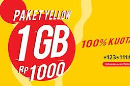 Cara Daftar Paket Yellow 1GB Indosat - September 2018