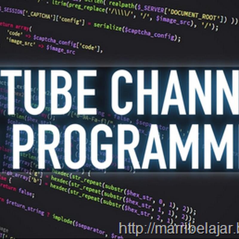 Youtube channel untuk programmer