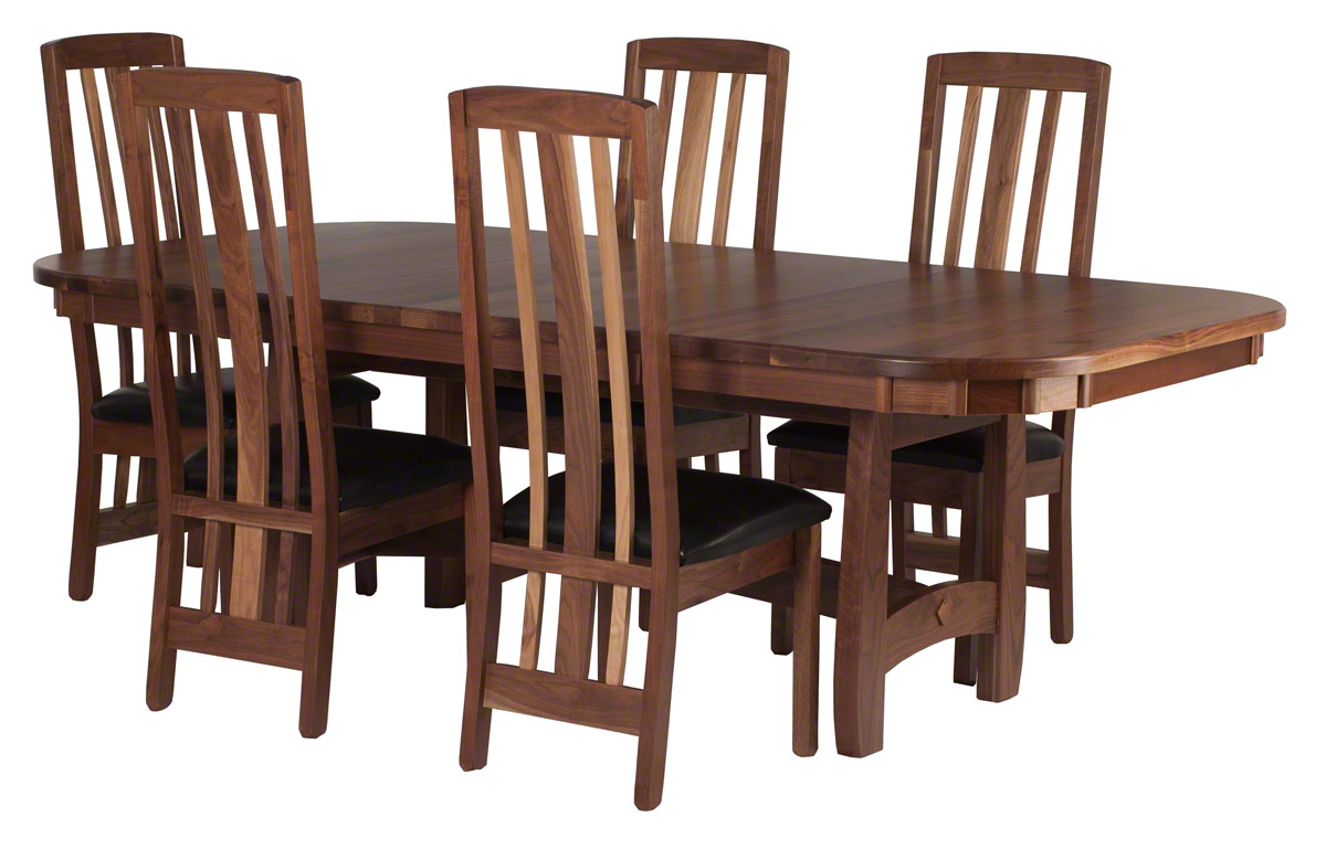 96 X 48 Montreal Table And Chairs In Natural Walnut