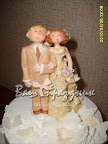 Свадебные фигурки на торт из марципана