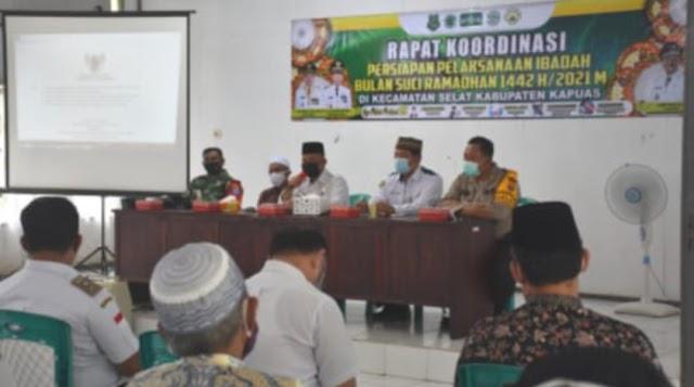 Kecamatan Selat Rakor Dukung Pelaksanaan Ibadah Ramadan dan Upaya Pencegahan Covid-19