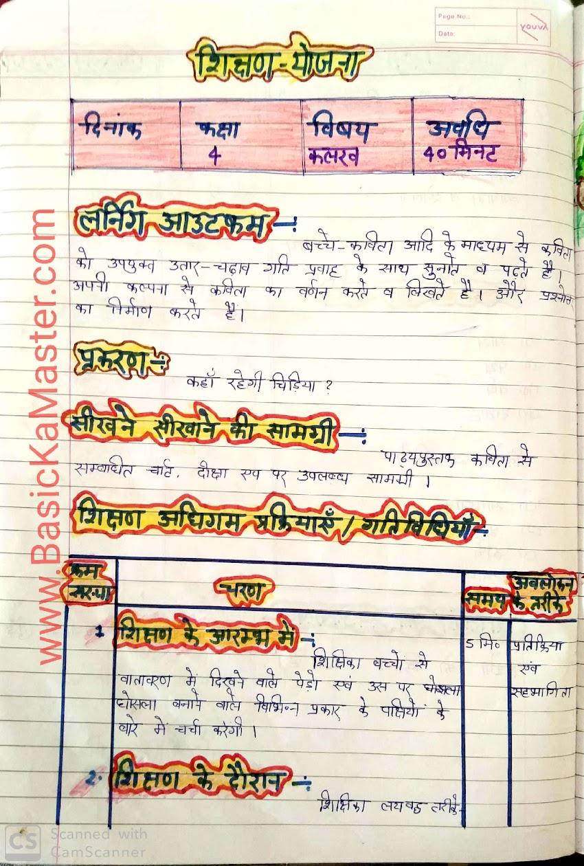 शिक्षण योजना 13 कक्षा 4 हिंदी by  रजनी मैम प्रकरण कहाँ रहेगी चिड़िया???
