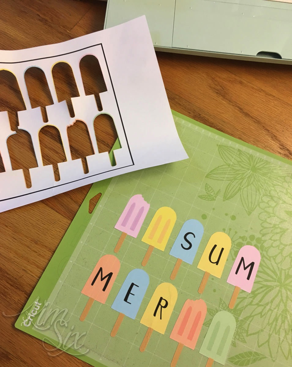 Print and cut personalized popsicle banner