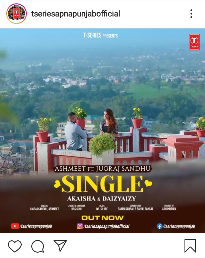 """""""Single"""" - New Song By Ashmeet Featuring Yuvraj Sandhu Out Now"""