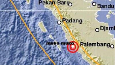Informasi Gempa berpusat di Muko Muko