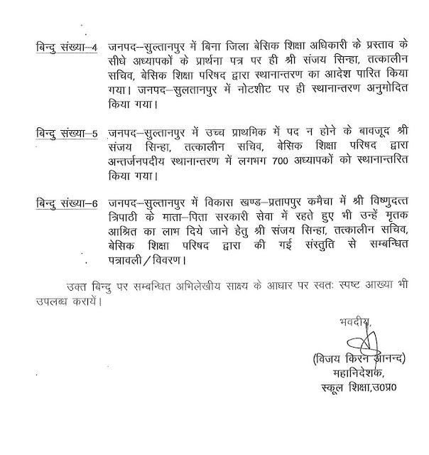 पूर्व शिक्षा सचिव संजय सिन्हा के खिलाफ शासन ने शुरू की जांच, देखें ऑर्डर कॉपी -1
