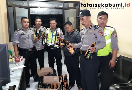 Barang bukti miras disita Polsek Cibadak Sukabumi (12/9/2018) - Isep Panji