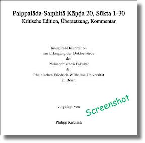 [Kubisch: Paippalāda-Saṃhitā Kāṇḍa 20]