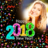 Happy New Year Photo Frame 2018 photo editor