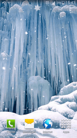 android Frozen Waterfall HD Wallpaper Screenshot 2
