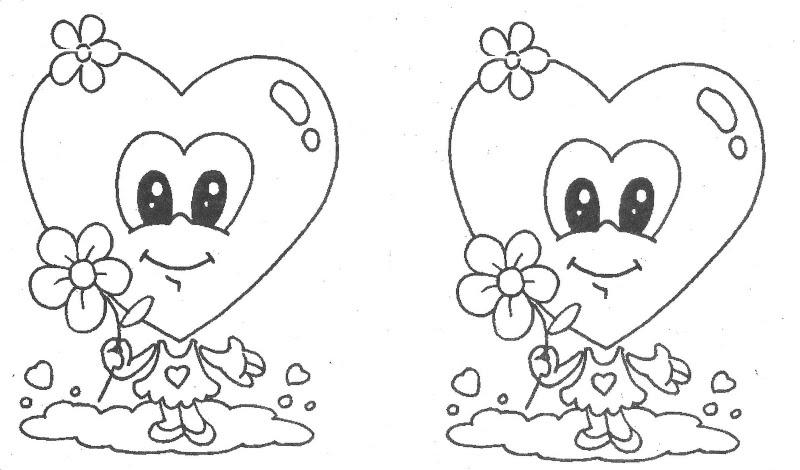 corazones con carita