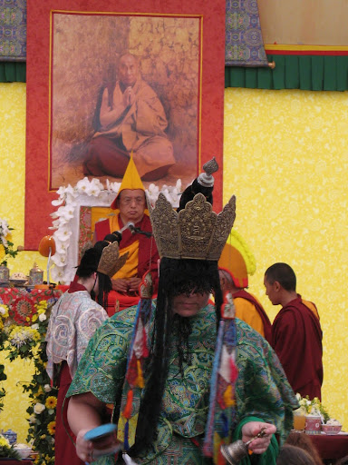 Long Life puja offered to Lama Zopa Rinpoche after the CPMT Meeting at Institut Vajra Yogini, France, May 2009.