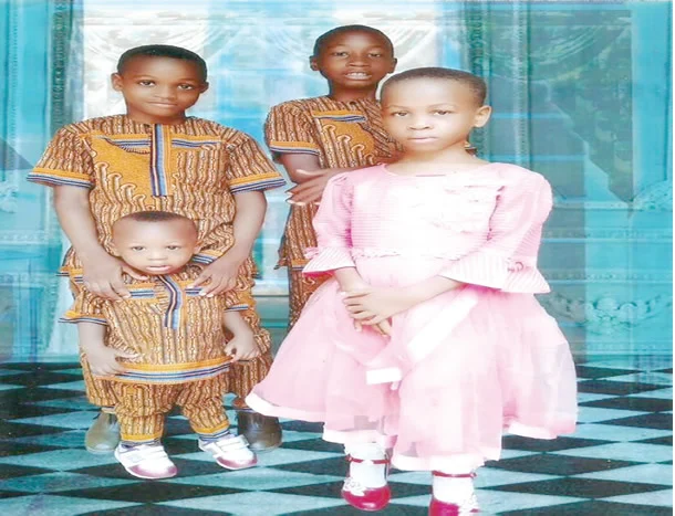 Tears Flow As Family Buries Four Children Who Died After Eaten Suya In Abia