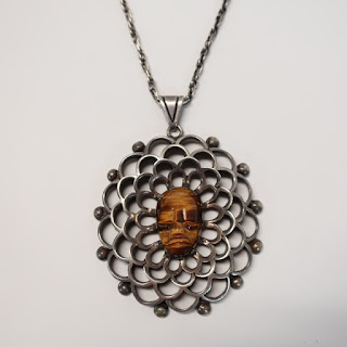 Sterling Silver and Tiger's Eye Necklace