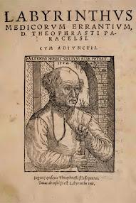 Cover of Paracelsus's Book Labyrinthus Medicorum Errantium (in Latin)