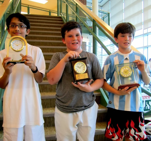 BU 11 3rd place finisher Rana Thakkar, finalist Drew Bown, and winner Patrick Keller