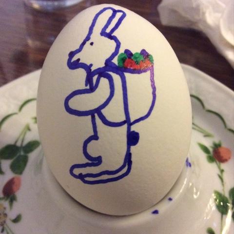Frühstücksei mit Osterhase