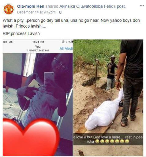 %255BUNSET%255D - Nigerian Slay Queen Allegedly Used For Money Ritual By Yahoo Boys (See Photos)