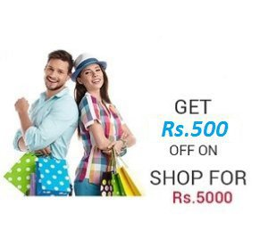 Snapdeal - Flat 500 Rs Discount On Minimum Purchase Of 5000 Rs Or More On All Debit/Credit Cards