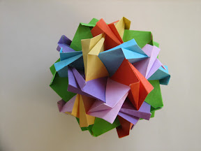 Blintz Icosidodecahedron by Tung Ken Lam at http://origami.kvi.nl/models/units/blinicos.pdf