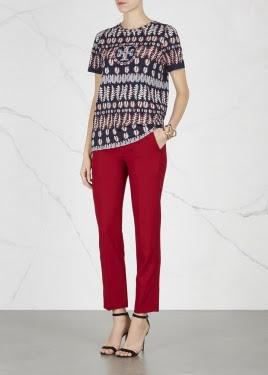 fern printed pima cotton t shirt