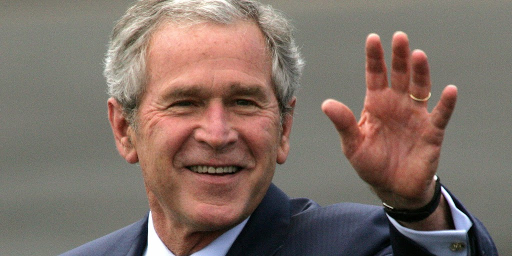 George W Bush finally bashes Obama on Mideast
