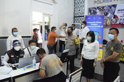 Dimulai Hari Ini, Sebanyak 457 Anggota Polres Pasuruan Kota Laksanakan Vaksinasi Covid-19 Secara Bertahap