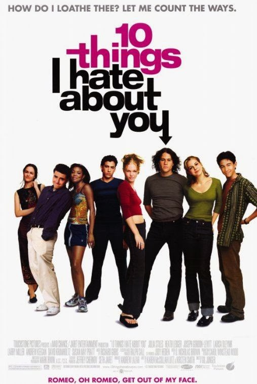 Poster Of 10 Things I Hate About You (1999) Full Movie Hindi Dubbed Free Download Watch Online At Alldownloads4u.Com