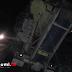 Jalan Raya Palabuhanratu - Jampang Macet Total, Truk Alat Berat Terperosok Tutup Seluruh Badan Jalan