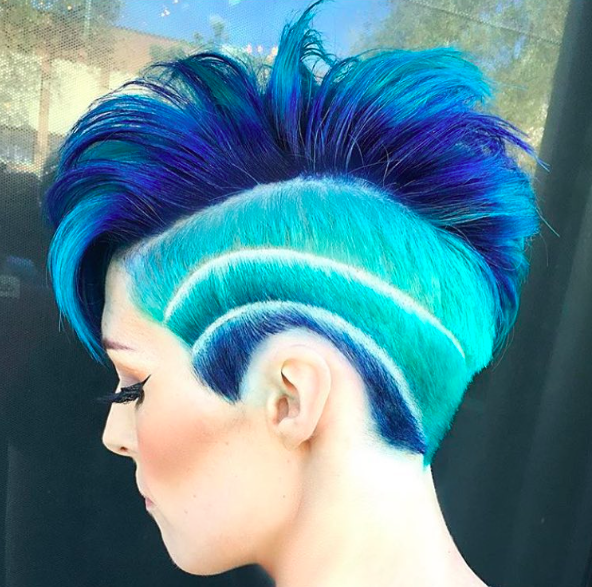 AMAZING COLORFUL UNDER CUT HAIR STYLES FOR WOMEN 9