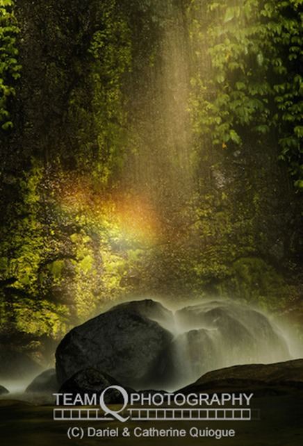 Indangan Falls, also known as Hidden Falls, one of the little-known natural wonders of Cotabato province.