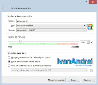 Instalación de Windows 10 - VirtualBox - Máquina Virtual