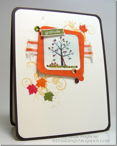 LeAnne Pugliese WeeInklings Paper Players 263 Tree for All Seasons