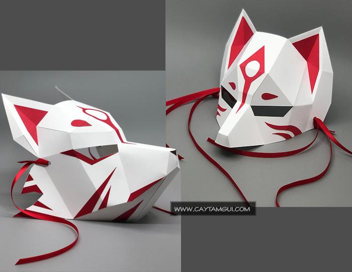 [$] Mặt nạ giấy 3D Cữu vĩ hồ ly - Kitsune - Demon Fox