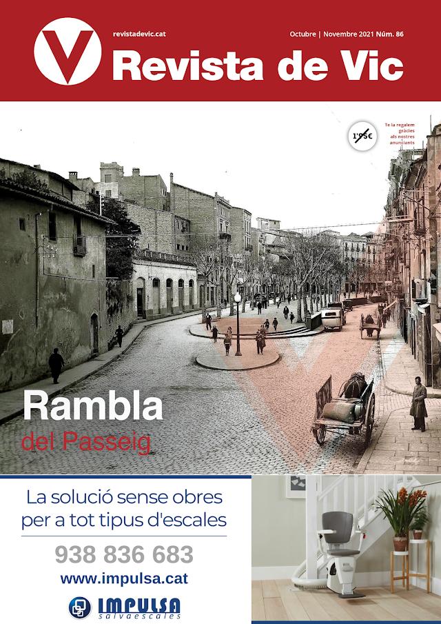 """REVISTA DE VIC 86 """"RAMBLA DEL PASSEIG"""" per Xavi Ruiz"""