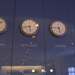 clocks: all visited in Reykjavik, Hofuoborgarsvaeoi, Iceland