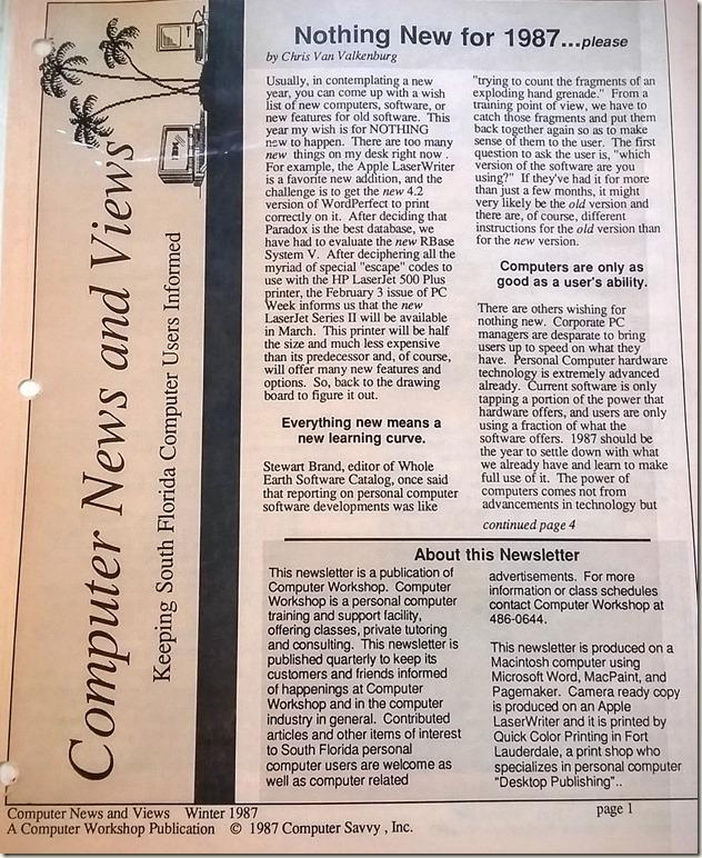 1987 news