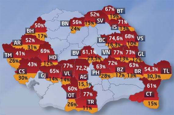 Sondajul care l-a enervat pe Gheorghe Flutur: În judeţul Suceava, USL ar obţine 52% din voturi iar PDL 15 procente. Procentele USL s-ar transforma, după redistribuire, în 64% din mandatele din Consiliul Judeţen