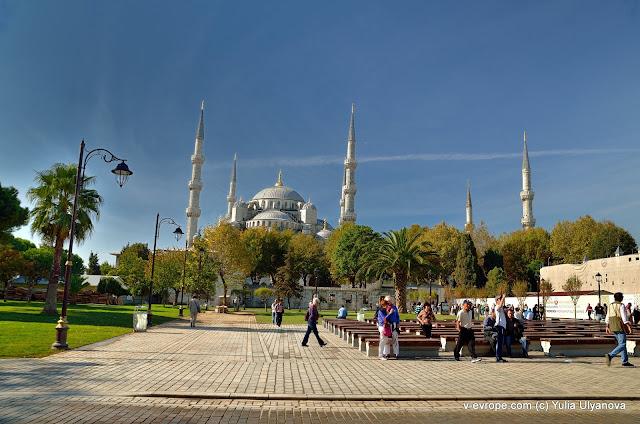Вид на Мечеть Султанахмет