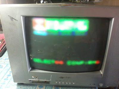cara memeprbaiki layar blur pada tv crt