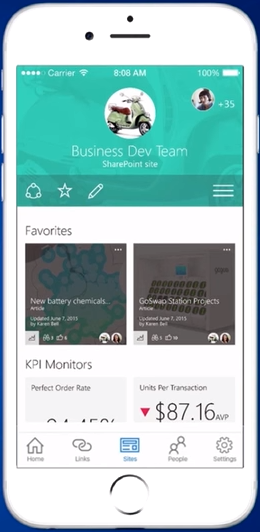New SharePoint team site - mobile - small