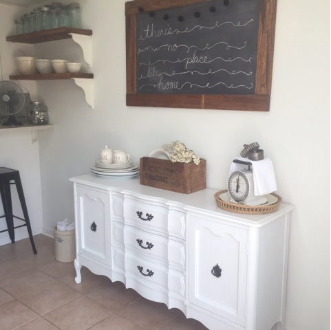 The Eat In Area Of Our Kitchen Has Seen Many Buffet And Hutch Combos, A  Metro Wire Shelving Unit And Most Recently This Lovely French Provincial  Piece.