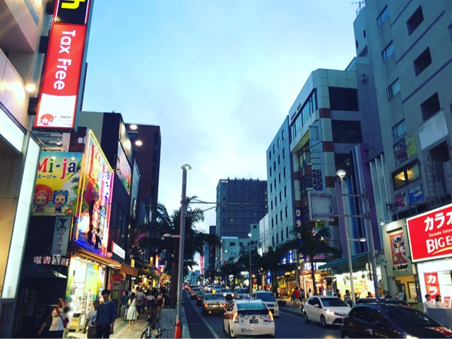 Kokusai Dori is the main tourist street in Naha, Okinawa. It has a laid back tropical feel