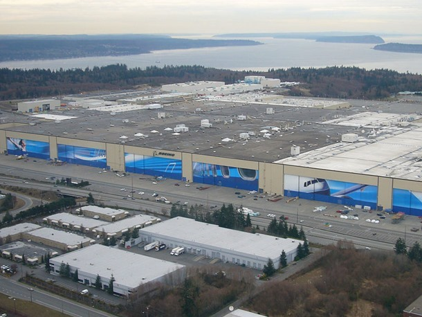 Aerial Boeing Everett Factory 2