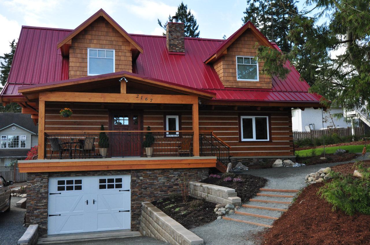 Model log home on vancouver island for Log cabin kit homes victoria