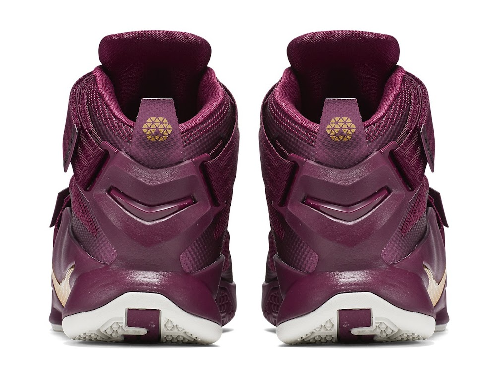 nike lebron soldier 9 gold purple