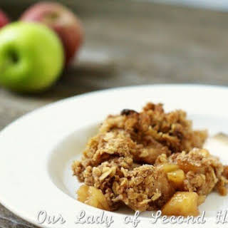 Apple Crumble with Walnut-Oat Topping.