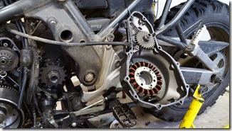 DS Aventure Quebec - couvercle stator versys