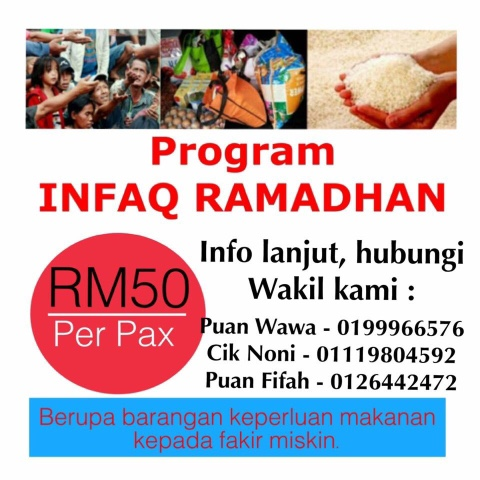 PROGRAM INFAQ RAMADHAN (16/5 /2016- 2/6 /2016)